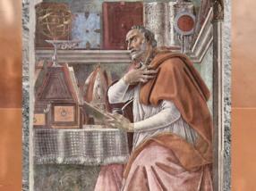 D'après un portrait de Saint Augustin, par Sandro Botticelli, 1480 apjc, Renaissance italienne. (Marsailly/Blogostelle)