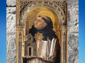 D'après un portrait de Thomas d'Aquin, par Carlo Crivelli, 1476 apjc, Renaissance Italienne. (Marsailly/Blogostelle)
