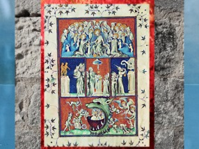D'après Le Paradis, la Terre, l'Enfer, la Cité de Dieu, Saint Augustin, 413 -26 apjc, miniature. (Marsailly/Blogostelle)