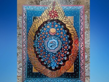 D'après la Vision de L'Univers-Œuf Cosmique, le Scivias (manuscrit du Rupertsberg), 1151 apjc, Hildegarde de Bingen. (Marsailly/Blogostelle)
