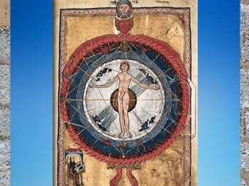D'après l'Être Humain au centre de l'Univers, Livre des Œuvres Divines (Liber Divinorum Operum), 1174 apjc, Hildegarde de Bingen. (Marsailly/Blogostelle)