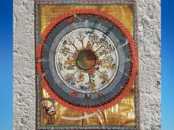 D'après le Cycle de la Vie, IVe vision, Le Livre des Œuvres Divines (Liber Divinorum Operum, 1174 apjc), Hildegarde de Bingen, XIIe siècle apjc. (Marsailly/Blogostelle)