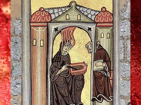 D'après une image du Scivias, 1151 apjc, Hildegarde de Bingen, abbesse inspirée. (Marsailly/Blogostelle)