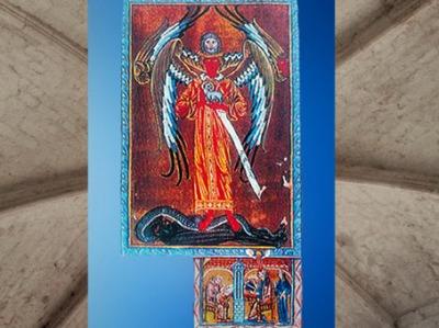 D'après La Figure Merveilleuse, Energie Suprême, Iere Vision, Le Livre des œuvres Divines, 1174 apjc, Hildegarde de Bingen. (Marsailly/Blogostelle)