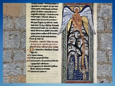 D'après l'enluminure du Scivias, ange, 1151 apjc, Hildegarde de Bingen. (Marsailly/Blogostelle)