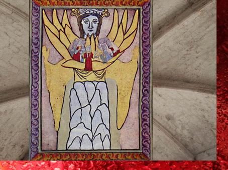 D'après le Scivias, Vision Mystique, 1151 apjc, Hildegarde de Bingen, XIIe siècle apjc. (Marsailly/Blogostelle)