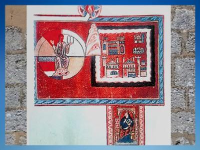 D'après une évocation de l'Apocalypse et de la Jérusalem Céleste, Le Livre des œuvres Divines, 1174 apjc, Hildegarde de Bingen. (Marsailly/Blogostelle)