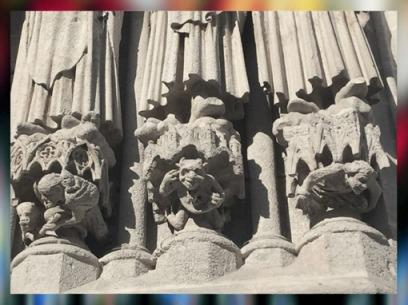 D'après les sculptures cathédrale d'Amiens, 1270 apjc, art Gothique, France. (Marsailly/Blogostelle
