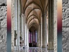 D'après la cathédrale d'Amiens, bas-côtés, 1220-1269 apjc, art Gothique, France. (Marsailly/Blogostelle)