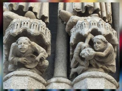 D'après des chapiteaux, cathédrale d'Amiens, 1270 apjc, art Gothique, France. (Marsailly/Blogostelle)