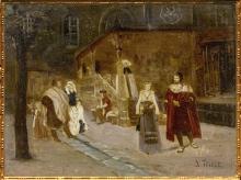 D'après La Rencontre de Faust et de Marguerite, 1860, James Tissot (1836-1902), inspiré du Faust de Goethe. (Marsailly/Blogostelle)