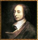 Blaise Pascal, artiste anonyme (copie d'une peinture de François II Quesnel gravée par Gérard Edelinck en 1691), XVIIe siècle, Versailles. (Marsailly/Blogostelle)