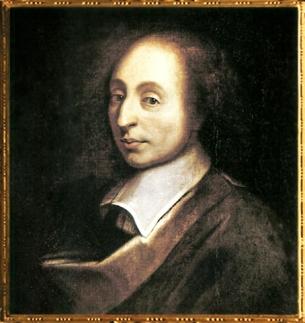 D'après Blaise Pascal, artiste anonyme (copie d'une peinture de François II Quesnel, gravée par Gérard Edelinck en 1691), XVIIe siècle, Versailles. (Marsailly/Blogostelle)