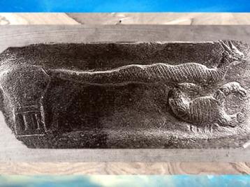 D'après le Serpent Cornu et le Scorpion auprès d'un autel chthonien, Kudurru du roi Meli-Shipak II, 1186–1172 avjc, dynastie Kassite, Babylone, butin de Suse. (Marsailly/Blogostelle)