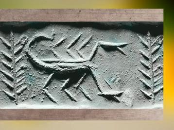 D'après un Scorpion et Plantes, cylindre d'Uruk, période de Djemdet Nasr, vers 3150 - 2900 avjc, Irak actuel, Mésopotamie. I(Marsailly/Blogostelle)
