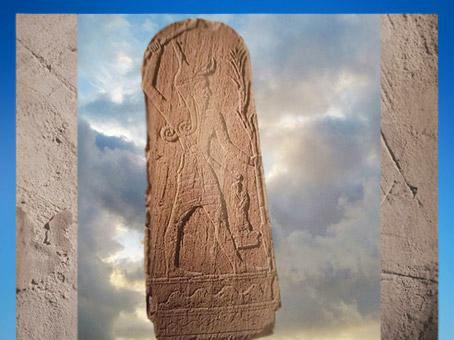 D'après le dieu Baal de l'Orage et le roi, Ugarit, milieu IIe millénaire avjc, Syrie actuelle ; Mésopotamie. (Marsailly/Blogostelle)