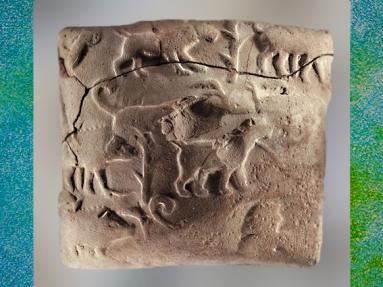 D'après des fauves et capridés, période de Djemdet-Nasr et d'Uruk Irak actuel, Mésopotamie. (Marsailly/Blogostelle)