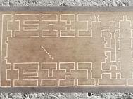 D'après le plan du Temple Blanc d'Uruk et sa nef cruciforme, vers 3300 avjc, Mésopotamie. (Marsailly/Blogostelle)