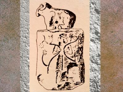 D'après un sceau surmonté d'un bélier, époque de Djemdet-Nasr, Irak actuel, Mésopotamie. (Marsailly/Blogostelle)