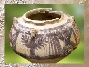 D'après une céramique peinte, période de Djemdet Nasr, Kish, 3150 - 2900 avjc, Khafadje, Mésopotamie. (Marsailly/Blogostelle)