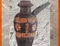 D'après un vase rituel, pierre calcaire et incrustations, Uruk, vers 3000 ans avjc, Irak. (Marsailly/Blogostelle)