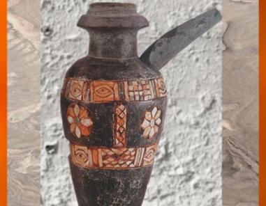 D'après un vase rituel, pierre calcaire et incrustations, Uruk, vers 3000 ans avjc, Irak actuel, Mésopotamie. (Marsailly/Blogostelle)