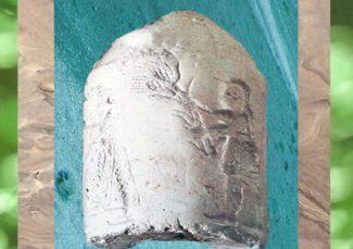 D'après un sceau-cylindre, scène de culte à Inanna, époque d'Uruk, vers 3200 avjc, Mésopotamie. (Marsailly/Blogostelle)