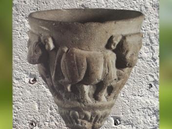 D'après un vase, bovidés, vers 3300 avjc, calcaire, style d'Uruk, Mésopotamie. (Marsailly/Blogostelle)
