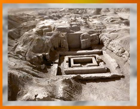 D'après l'architecture sacrée d'Uruk, vers 3500-3000 avjc, Irak actuel, Mésopotamie. (Marsailly/Blogostelle)