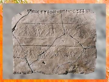 D'après des frises et écriture proto-élamite, vers 3100-2850 avjc, Pays d'Elam, Iran actuel, Orient ancien. (Marsailly/Blogostelle)