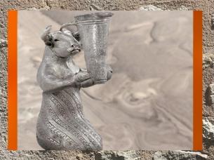 D'après un Taureau en argent, et vase, vers 3100–2900 avjc, pays d'Elam, Iran actuel, Orient ancien. (Marsailly/Blogostelle)