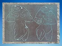 D'après une empreinte de sceau, Lionne, vers 3000-2900 avjc, pays d'Élam, actuel Iran. (Marsailly/Blogostelle)
