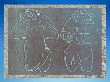 D'après une empreinte de sceau, Lionnes, vers 3000-2900 avjc, pays d'Élam, Iran actuel, Orient ancien. (Marsailly/Blogostelle)