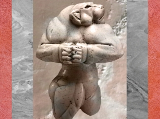 D'après la sculpture dite La Lionne de Guennol, vers 3300-2800 avjc, pays d'Élam, Iran actuel, Orient ancien. (Marsailly/Blogostelle)