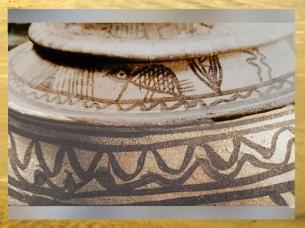 D'après le décor du vase à la Cachette, Suse, milieu du IIIe millénaire avjc, pays d'Élam, Iran actuel, Orient ancien. (Marsailly/Blogostelle)