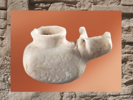 D'après un vase-animal en albâtre, vers 3300 avjc, pays d'Elam, Iran actuel, époque d'Uruk. (Marsailly/Blogostelle)