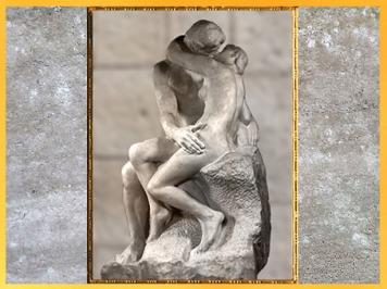 D'après Le Baiser d'Auguste Rodin, inspiré de Paolo et Francesca, La Divine Comédie, 1888-1898, XIXe siècle. (Marsailly/Blogostelle)