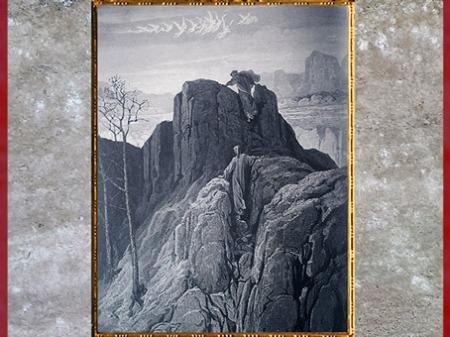D'après le chemin escarpé vers le Purgatoire, Gustave Doré, 1861, La Divine Comédie, XIXe siècle. (Marsailly/Blogostelle)