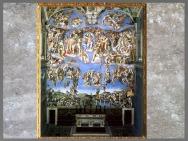 D'après le Jugement Dernier, Michelangelo, 1536-1541, chapelle Sixtine, Rome, XVIe siècle, Renaissance. (Marsailly/Blogostelle)