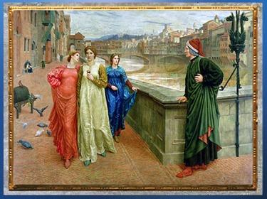 D'après Dante et Béatrice, la cité de Florence, Henry Holiday, 1883, XIXe siècle. (Marsailly/Blogostelle)