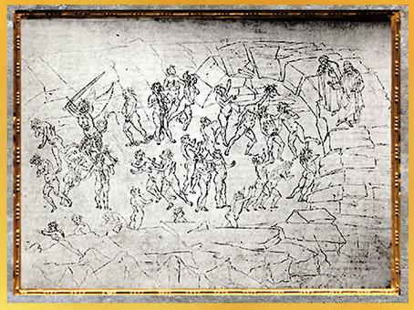 D'après les Semeurs de discorde, l'Enfer, Sandro Botticelli, 1480-1495, Divine Comédie, XVe siècle, Renaissance. (Marsailly/Blogostelle)