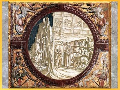 D'après Dante et Virgile au Purgatoire, de Luca Signorelli, fresque, chapelle San Brizio, Orvieto 1499-1502, détail, début XVIe siècle. (Marsailly/Blogostelle)