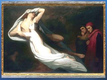 D'après Les Ombres de Francesca da Rimini et de Paolo Malatesta, Ary Schefer, 1855, XIXe siècle. (Marsailly/Blogostelle)