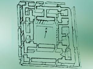 D'après l'enceinte sacré du Palais de Mari, vers 2600-2500 avjc, période des dynasties archaïques, Sumer (époque dite aussi présargonique), Syrie actuelle, Mésopotamie. (Marsailly/Blogostelle)