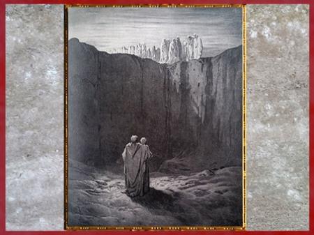 D'après Dante et Virgile au pied du Purgatoire, de Gustave Doré, 1861, La Divine Comédie, XIXe siècle. (Marsailly/Blogostelle)