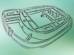 D'après un dessin Temple Ovale de Khafadjé, vers 2700 ans avjc, région de Diyala, Irak actuel, Mésopotamie. (Marsailly/Blogostelle)
