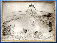 D'après le Mont du Purgatoire, Divine Comédie, de Sandro Botticelli, 1480-1495, fin XVe siècle, Renaissance. (Marsailly/Blogostelle)