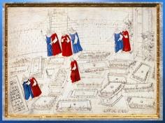 D'après l'Enfer, les Tombeaux Brûlants, Sandro Botticelli, La Divine Comédie, 1480-1495, fin XVe siècle, Renaissance. (Marsailly/Blogostelle)