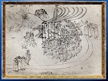 D'après Le Paradis, le Triomphe de l'Eglise, Divine Comédie, Sandro Botticelli, 1480-1495, fin XVe siècle, Renaissance. (Marsailly/Blogostelle)