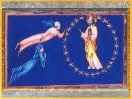 D'après le Paradis, de Giovanni di Paolo, 1450, Divine Comédie, Toscane, XVe siècle, Renaissance. (Marsailly/Blogostelle)